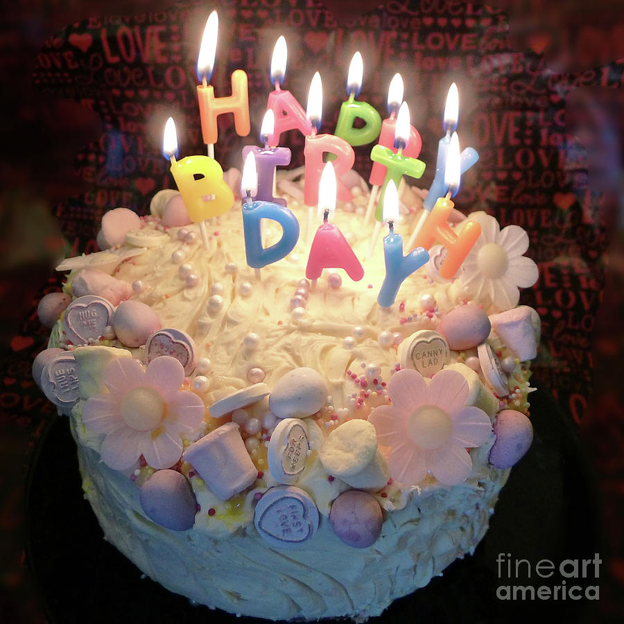 Remarkable Happy Birthday Cake Photograph By Jayne Pinkert Funny Birthday Cards Online Aeocydamsfinfo