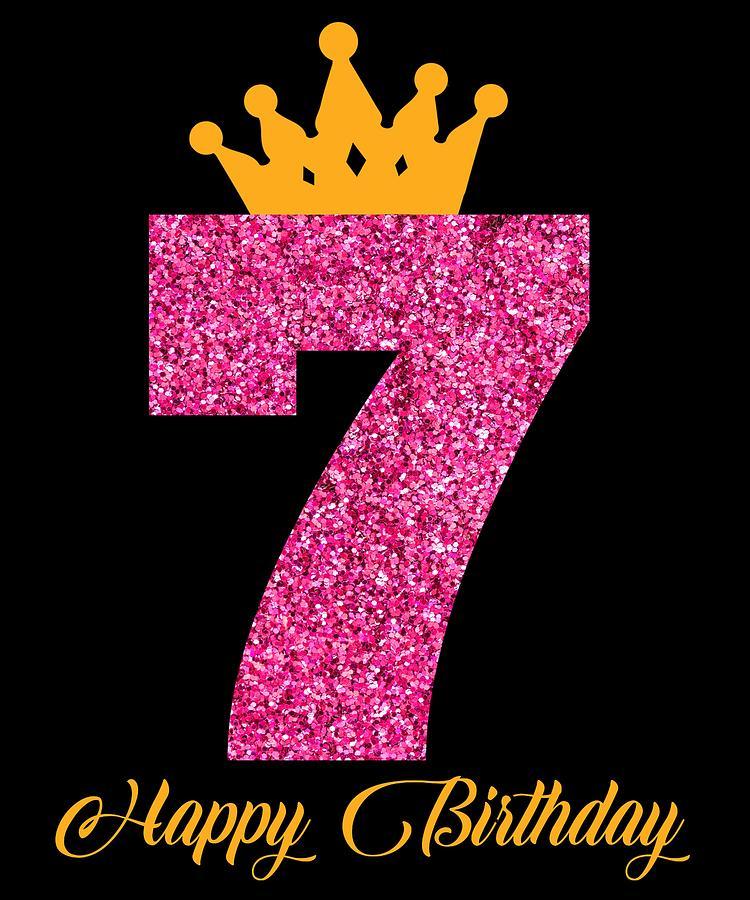happy birthday numbers 7 7