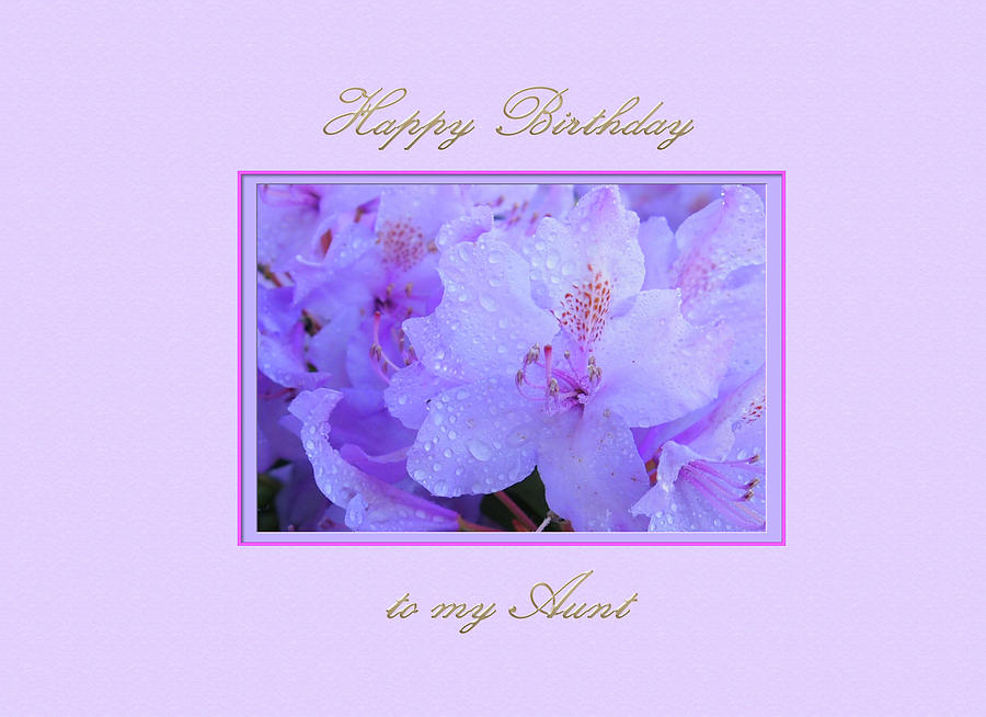 Happy Birthday to my Aunt Purple with Hydrangeas by Jacqueline Sleter