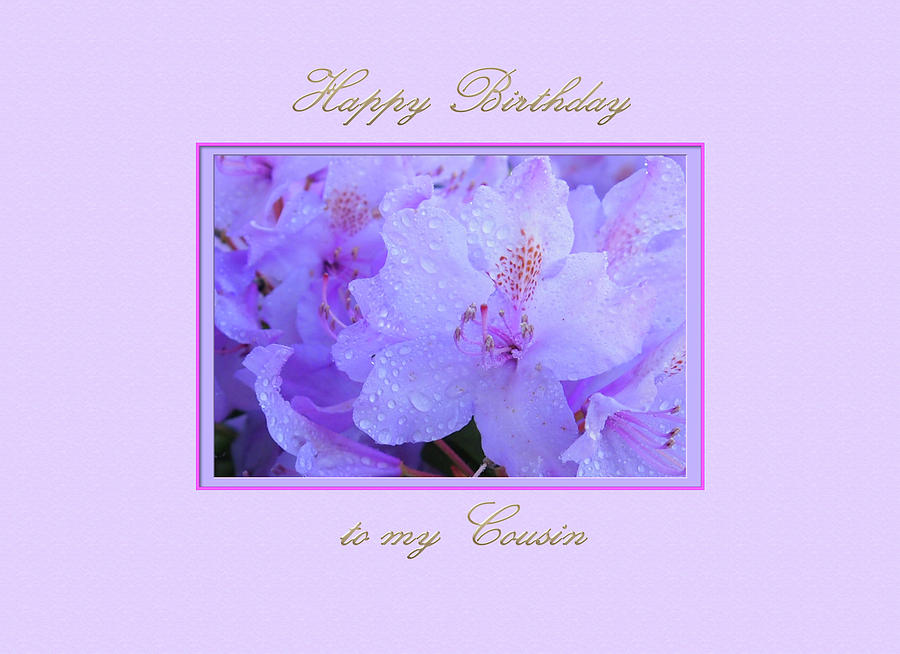 Happy Birthday to my Cousin with Purple Hydrangeas by Jacqueline Sleter