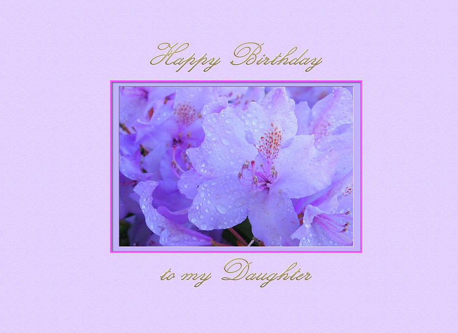 Happy Birthday to my Daughter with Purple  Hydrangeas by Jacqueline Sleter