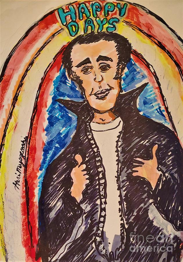 Happy Days The Fonz Mixed Media