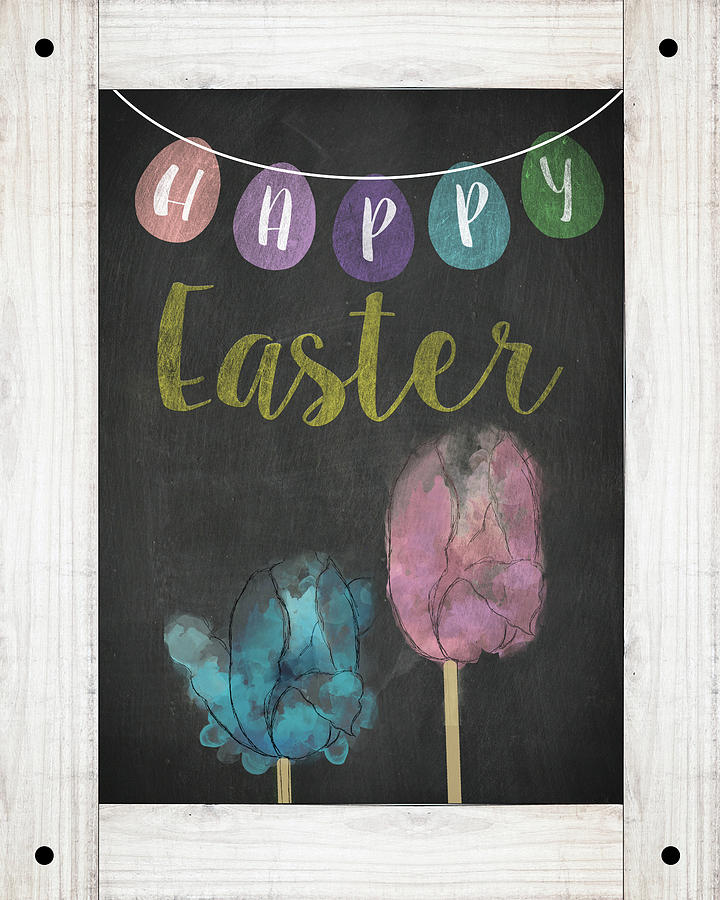 Happy Easter Sign by Sd Graphics Studio