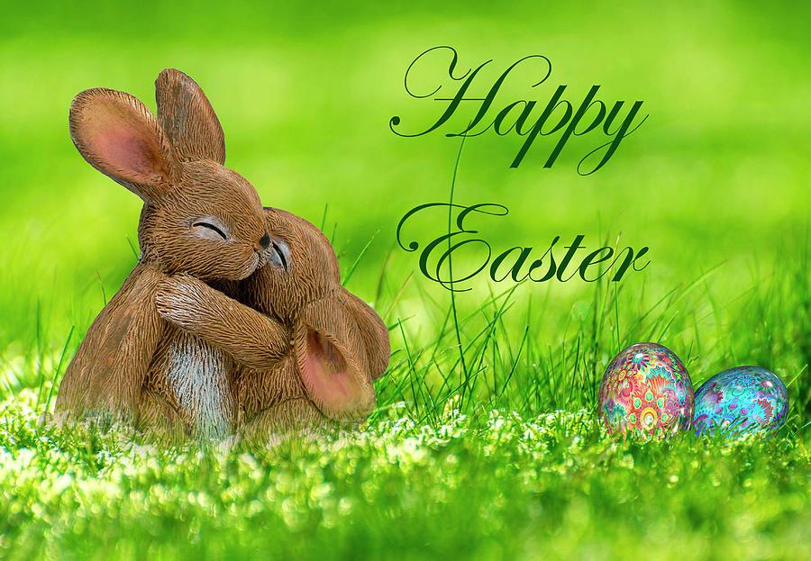 Happy Easter With Hugs Digital Art