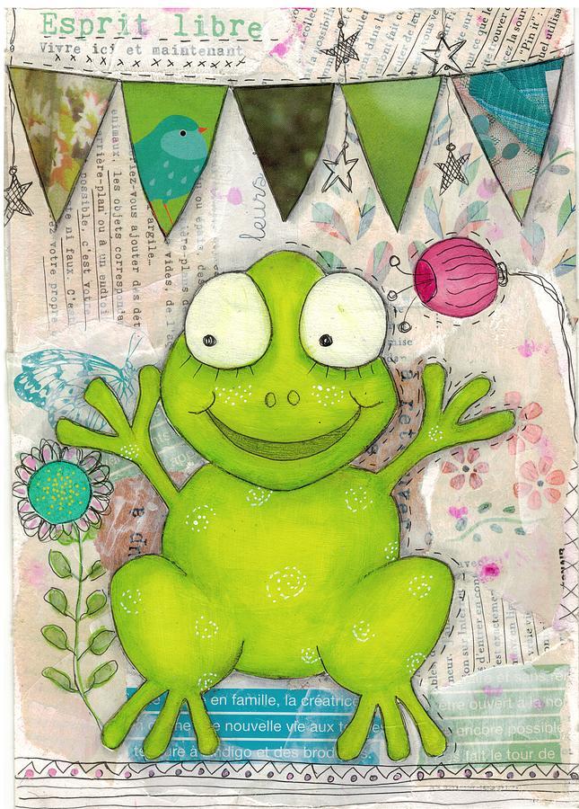 Happy Frog by Barbara Orenya