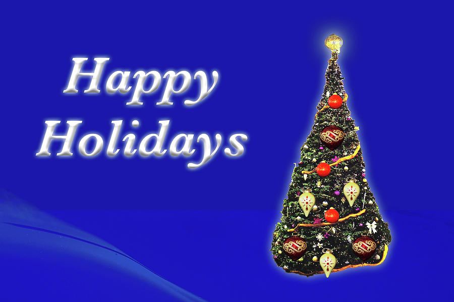 Happy Holidays Christmas Tree by MARVIN BOWSER