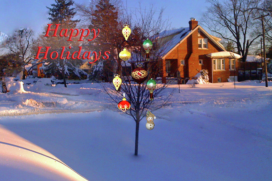 Happy Holidays Jewel Tree by MARVIN BOWSER