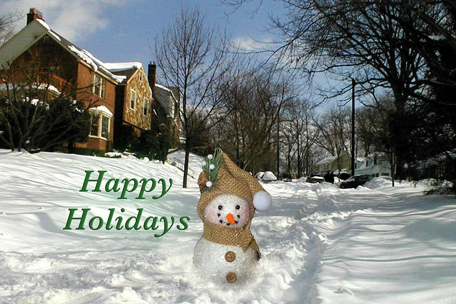 Happy Holidays Snowman by MARVIN BOWSER