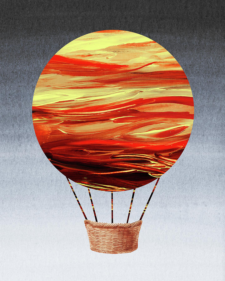 Happy Hot Air Balloon Watercolor VII  by Irina Sztukowski
