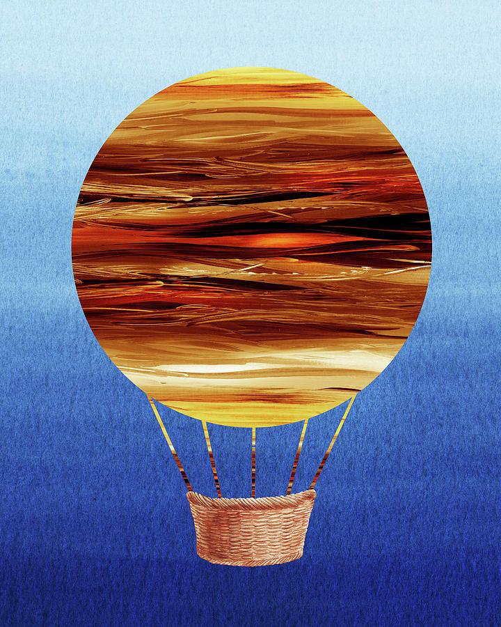 Happy Hot Air Balloon Watercolor Xv Painting
