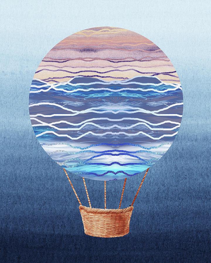 Watercolor Painting - Happy Hot Air Balloon Watercolor Xxvi by Irina Sztukowski