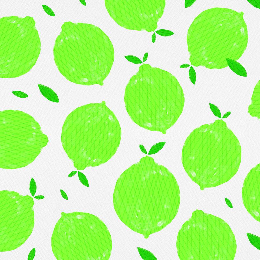 Happy Lime Print by Jen Montgomery
