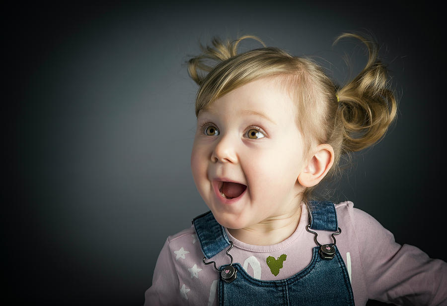 Child Photograph - Happy Little Child by Gualtiero Boffi