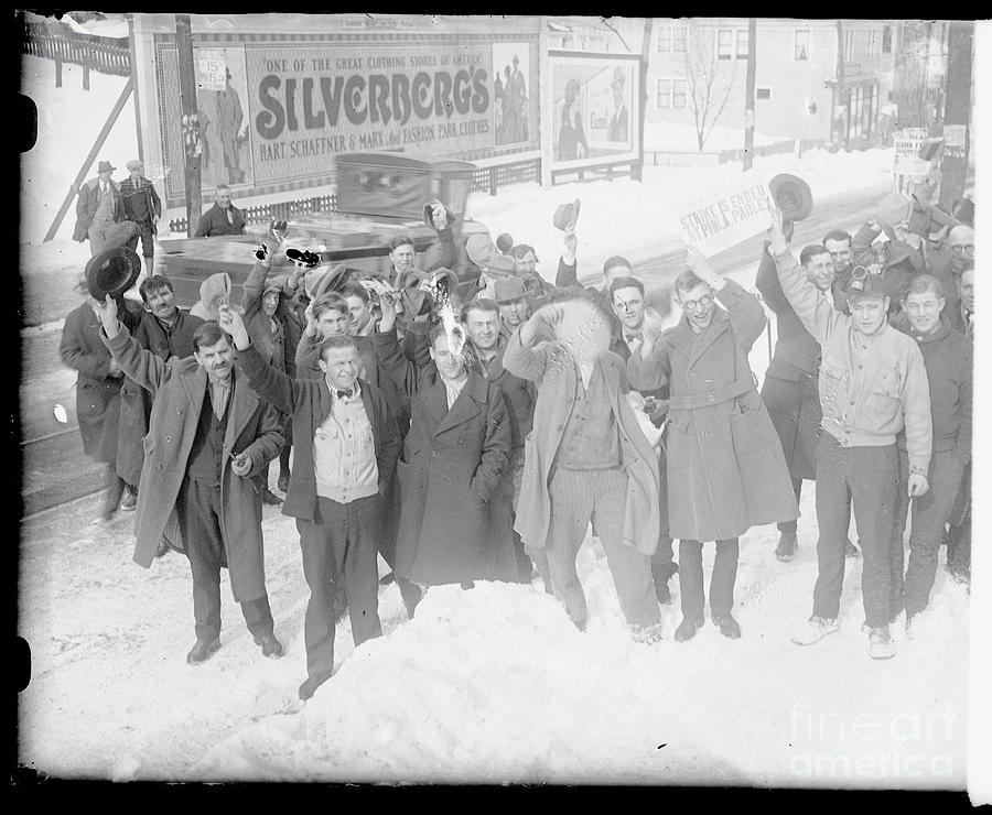 Happy Miners Cheering About Coal Strike Photograph by Bettmann