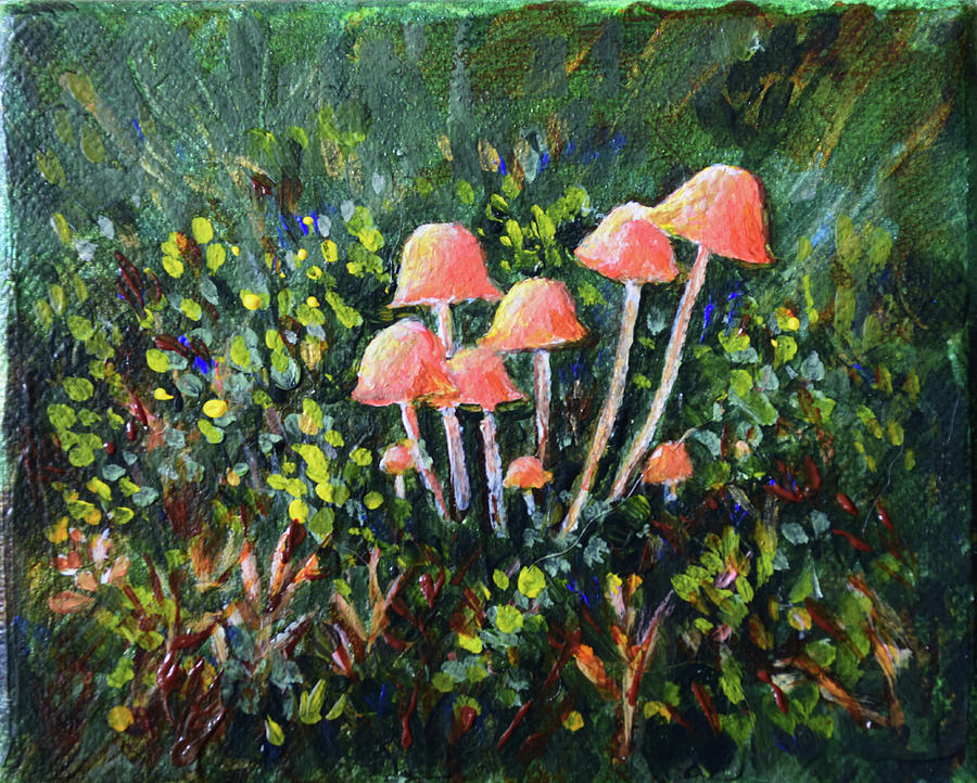 Happy Mushrooms by Alexis Baranek
