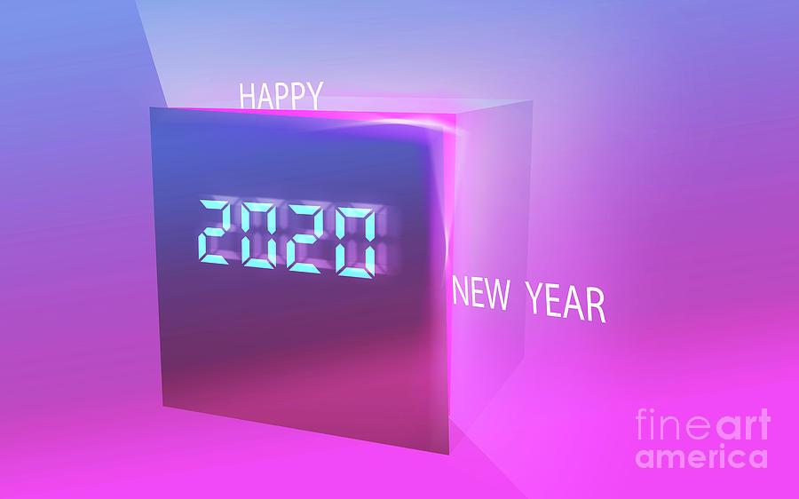 happy new year 2020 digital gift box by ATIKETTA SANGASAENG