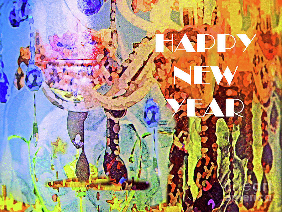 Happy New Year Goblets Painting