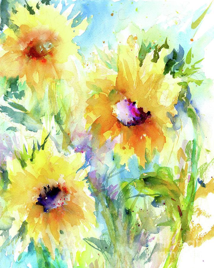 Happy Sunflowers by Christy Lemp