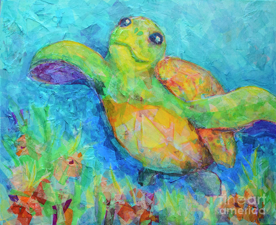 Happy Turtle by Robin Wiesneth