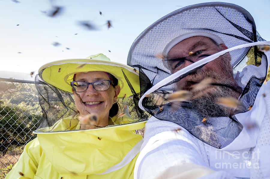 2017 Photograph - Happy With Bees by Shawn Jeffries
