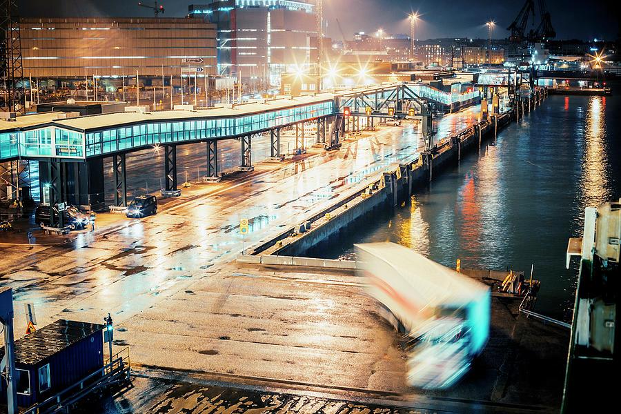 Harbor Area Photograph by Peeterv