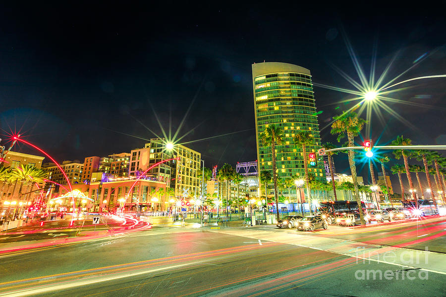 Harbor Drive in San Diego by Benny Marty