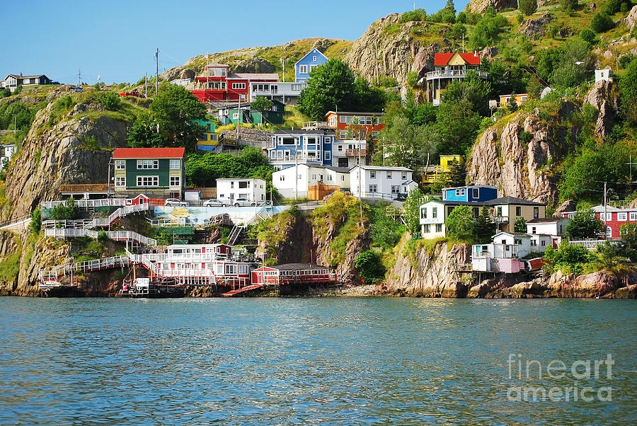 Cliffs Photograph - Harbour Front Village In St. Johns by Justek16