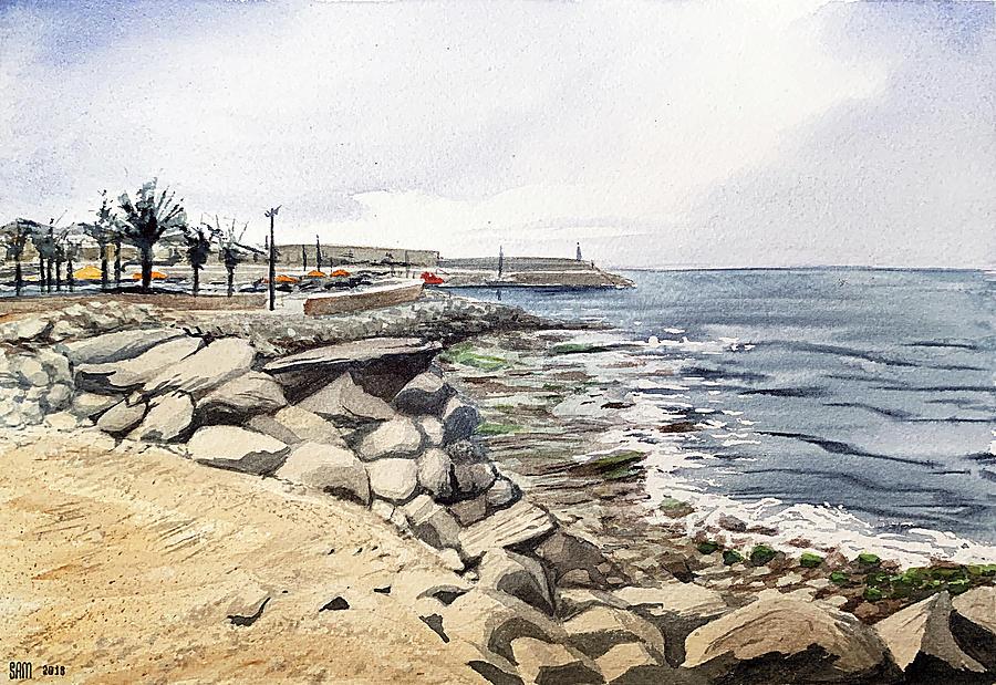Arguineguin Painting - Harbour In Arguineguin, Gran Canaria by Sami Matilainen
