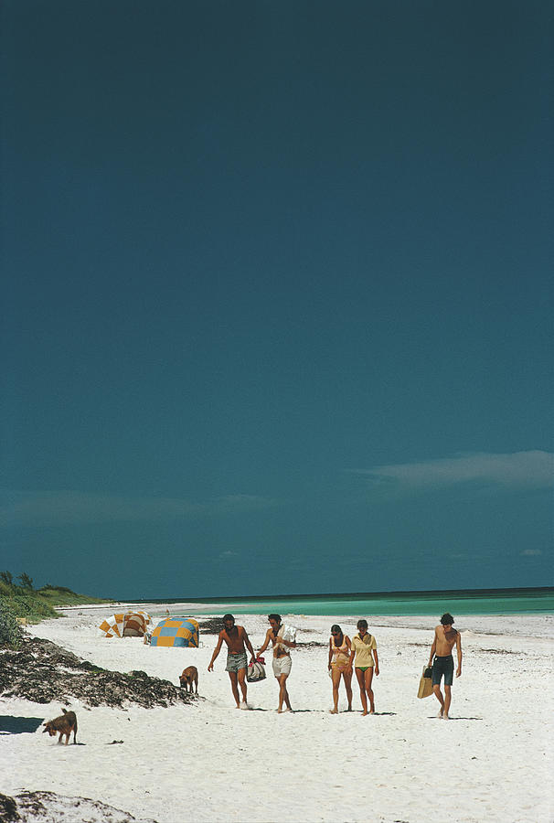 Harbour Isle Beach Photograph by Slim Aarons