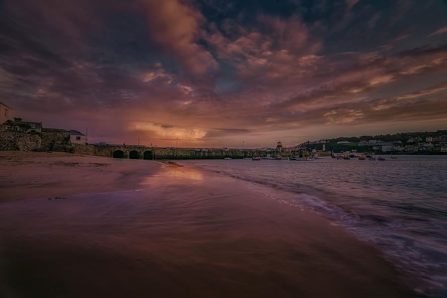 Harbour Sunset - St Ives Cornwall by Eddy Kinol