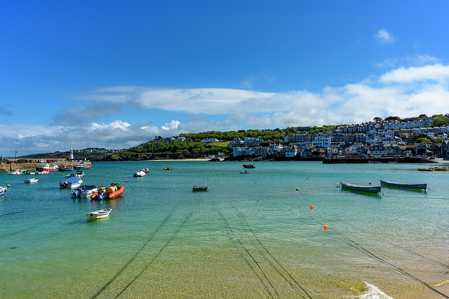 Harbour to Porthminster St Ives Cornwall by Eddy Kinol