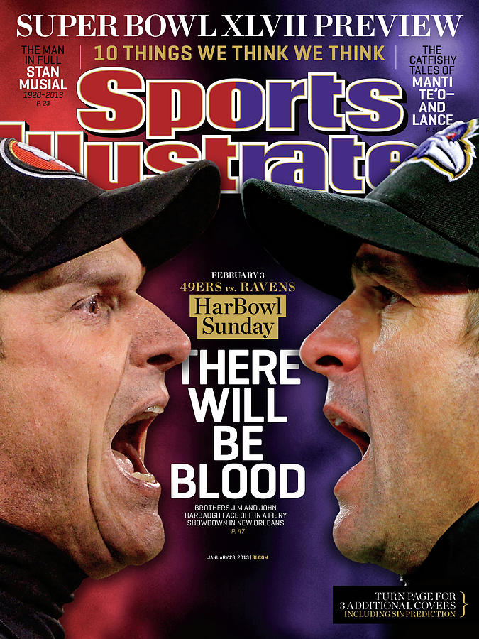 Harbowl Sunday There Will Be Blood Sports Illustrated Cover Photograph by Sports Illustrated