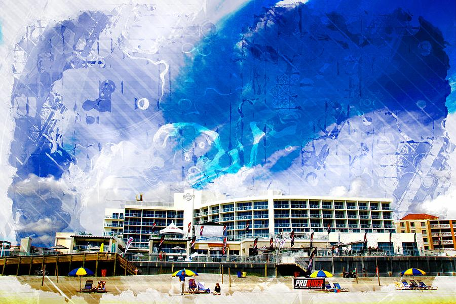 Hard Rock Beach Abstract by Alice Gipson