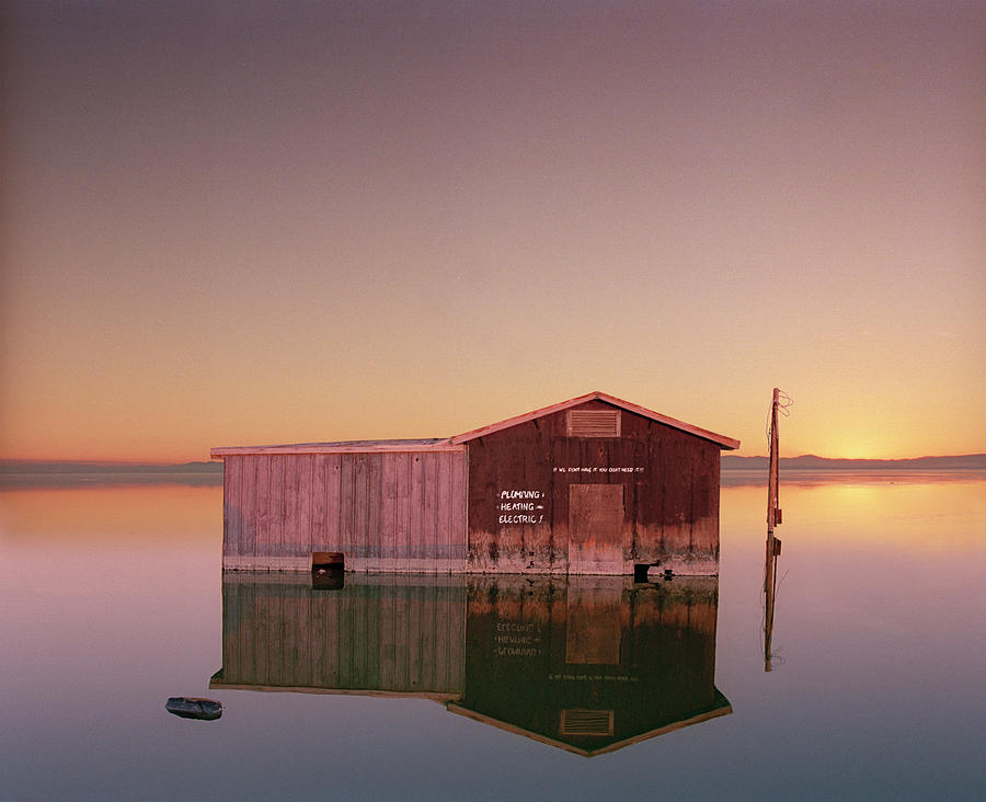 Hardware Store Sinking Into The Salton Photograph by Ed Freeman