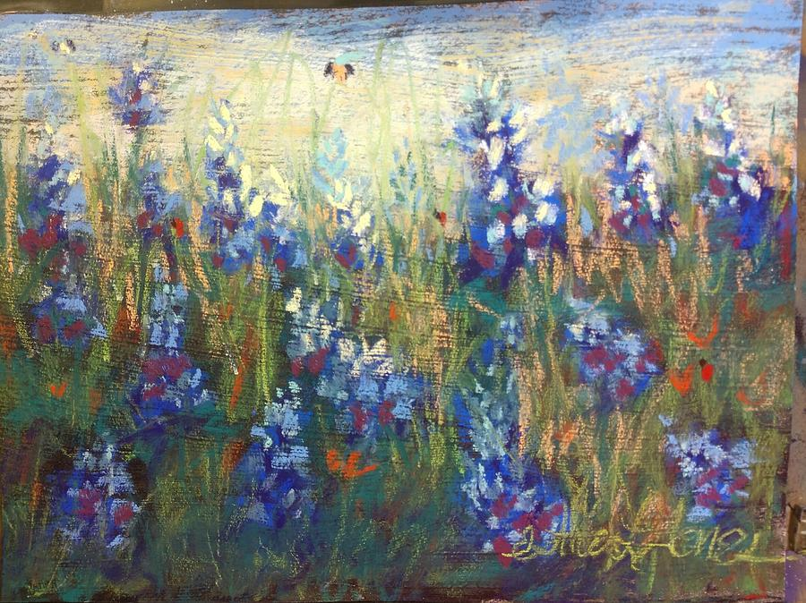 Bluebonnet Pastel - Hardy Texas Blues by Esther Jones