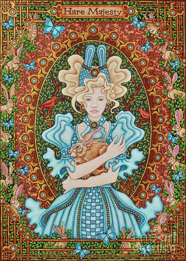 Hare Majesty Portrait 1 by Amy E Fraser