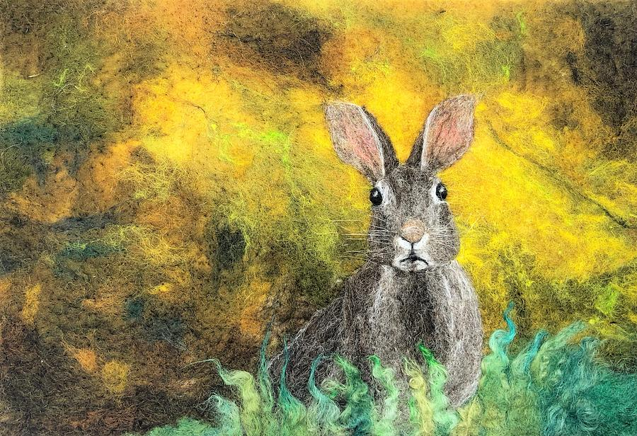 Hare on Yellow by Ushma Sargeant