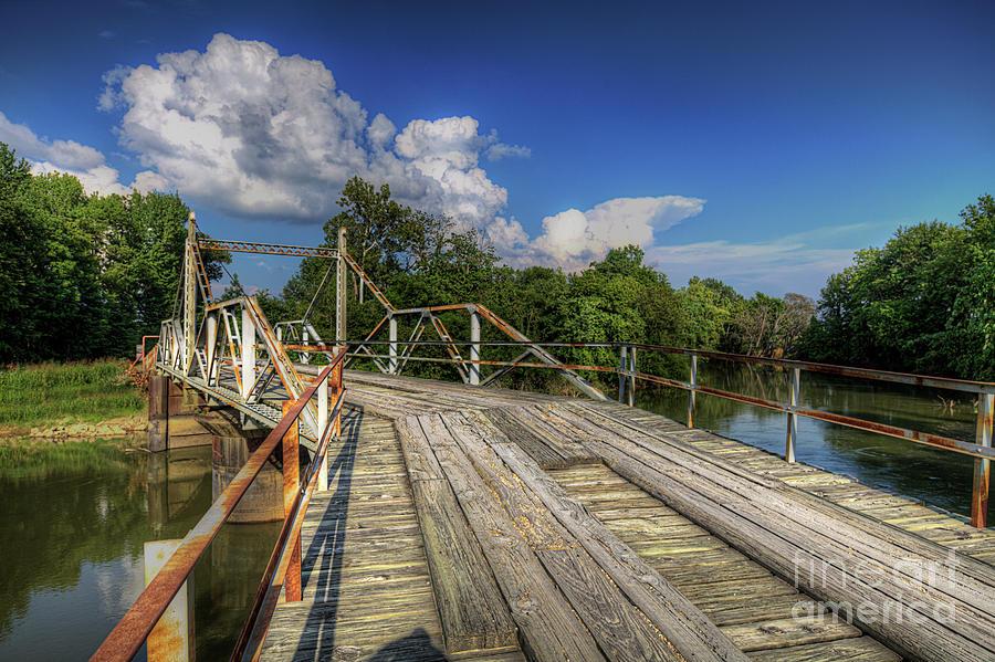 Travel Photograph - Hargrove Pivot Bridge  by Larry Braun