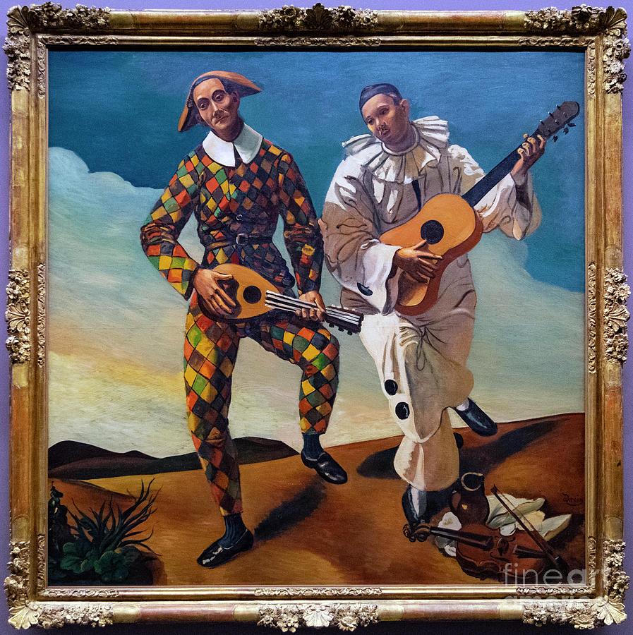 Harlequin and Pierrot Andre Derain lorangerie Paris France by Wayne Moran