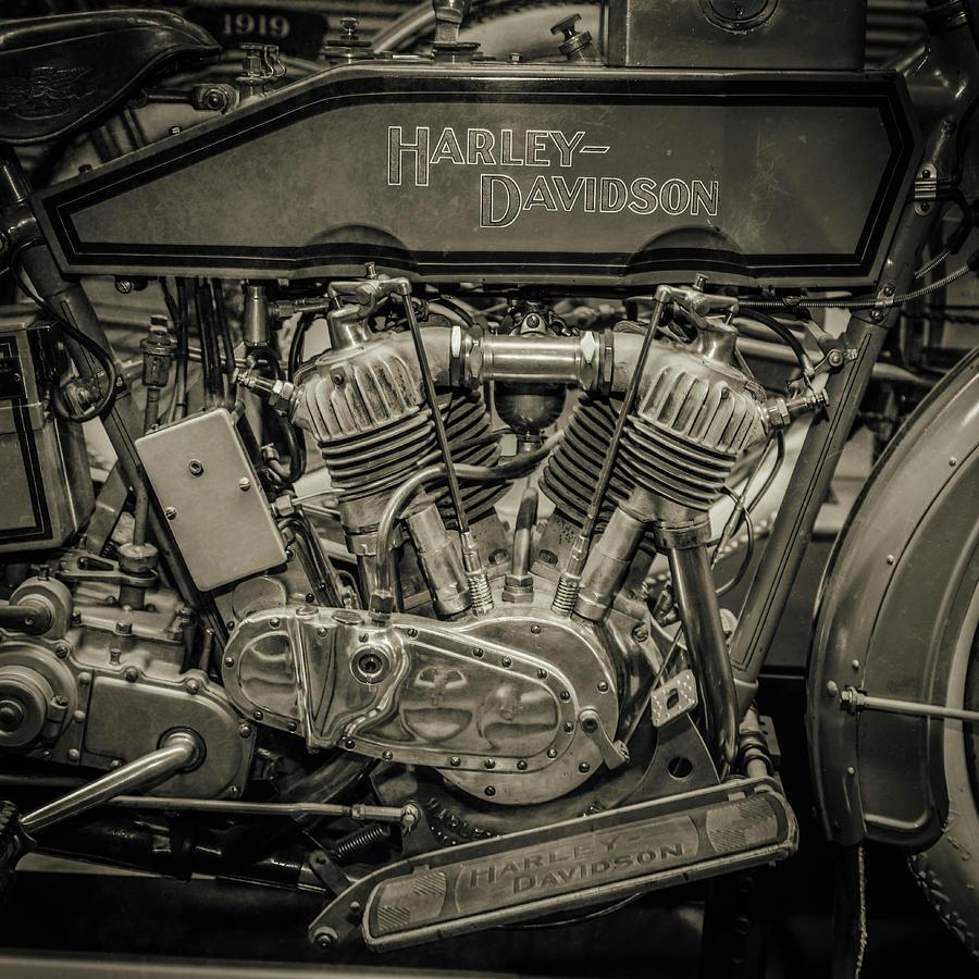 Harley Davidson Photograph - Harley 1915 by Mike Burgquist