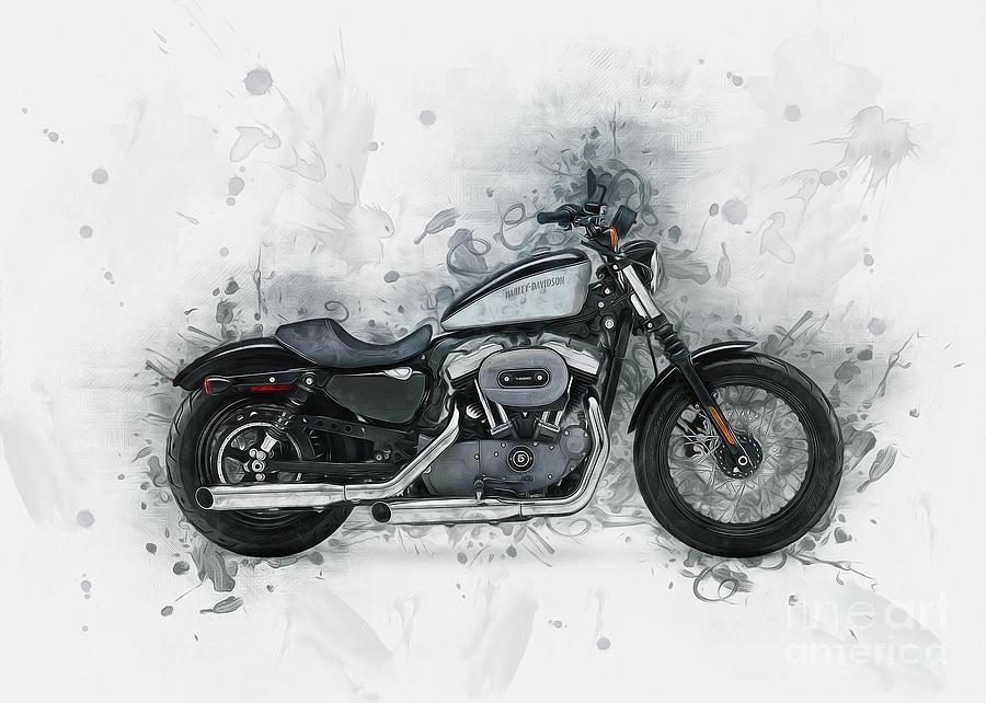 Harley Davidson Sportster by Ian Mitchell