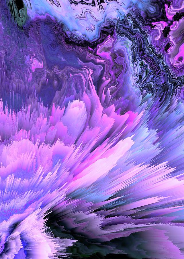 Harmful Help Glitched Fluid Art Digital Art by Aesthetic ...