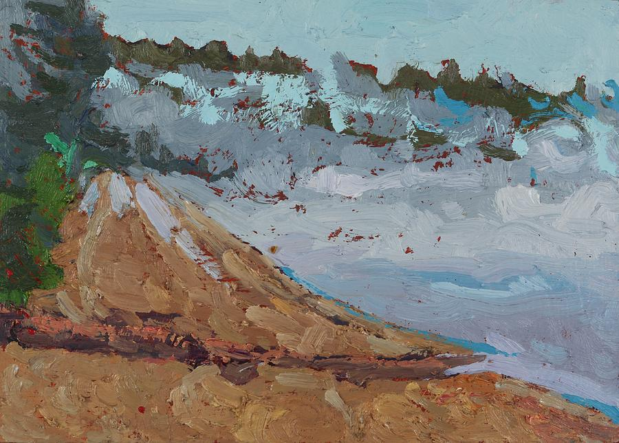 May Painting - Harmony Beach Fog And Drizzle by Phil Chadwick