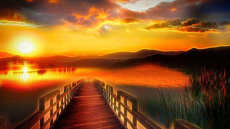 Sunset Digital Art - Harmony by Jasmina Seidl
