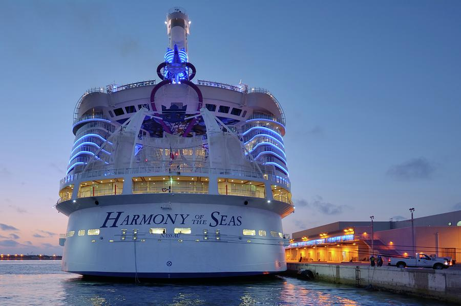 Harmony of the Seas at Twilight by Bradford Martin
