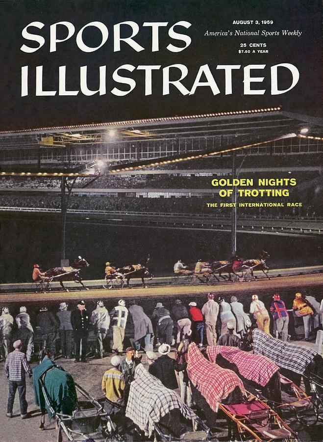 Harness Racing Sports Illustrated Cover Photograph by Sports Illustrated