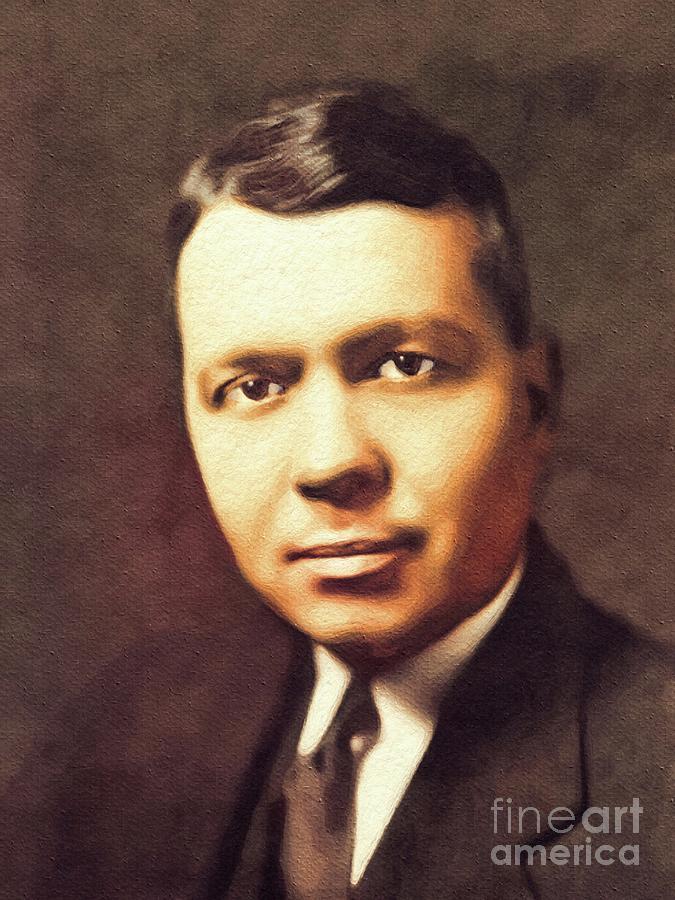 Harold Painting - Harold Clayton Urey, Famous Scientist by Esoterica Art Agency