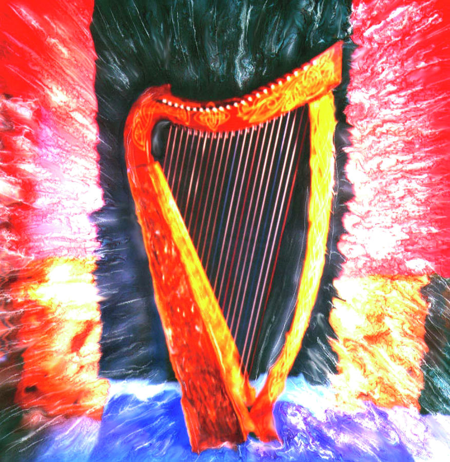 Harp Photograph by Claire Rydell
