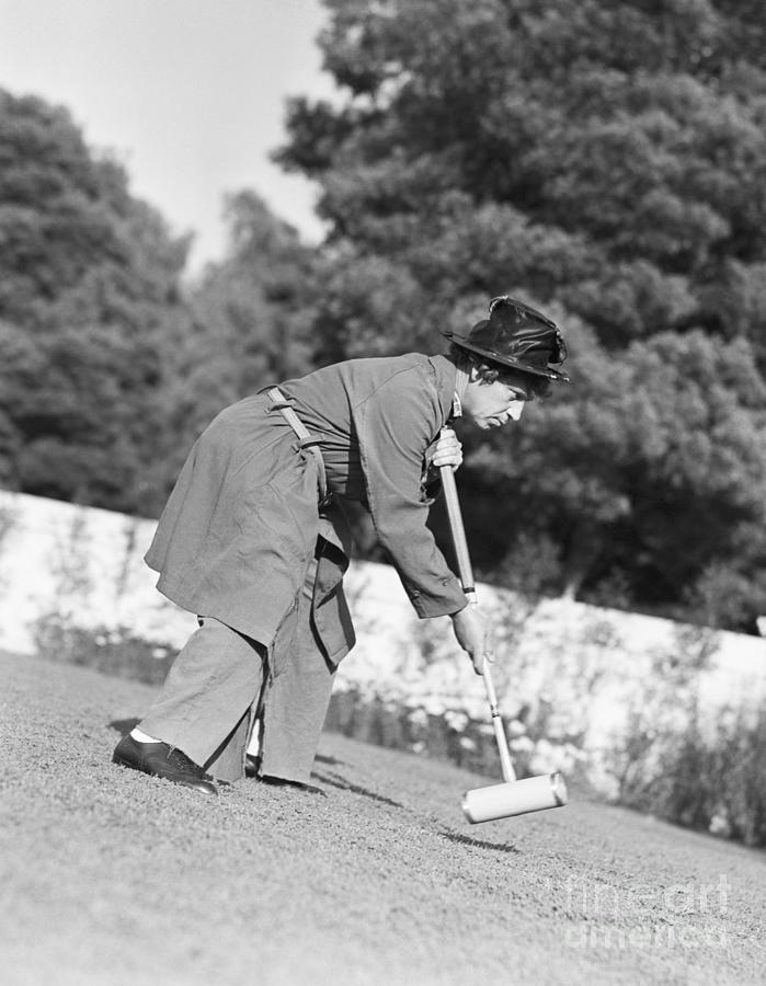 Harpo Marx Playing Croquet Photograph by Bettmann