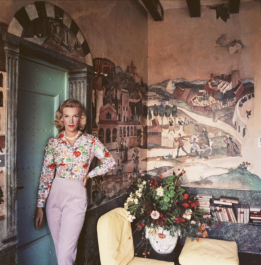 Harriet At Mougins Photograph by Slim Aarons